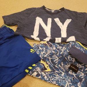 Swim suit, shirts, tee lot